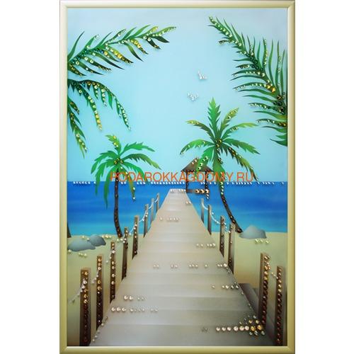"""Картина Сваровски """"Гавайский пляж"""" 02514 фото"""