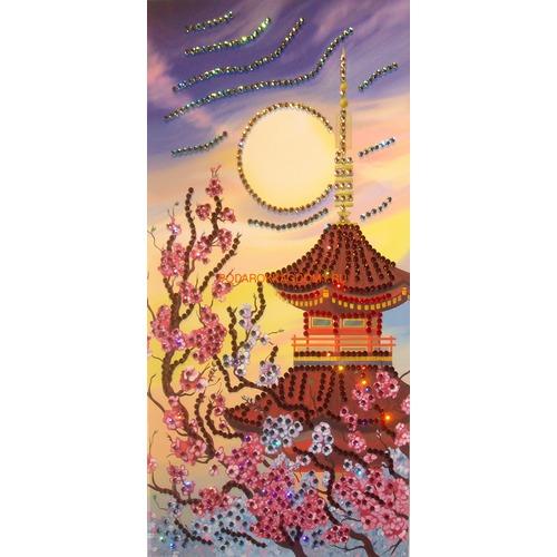 """Восточная картина Сваровски """"Пагода"""" 08144 фото"""