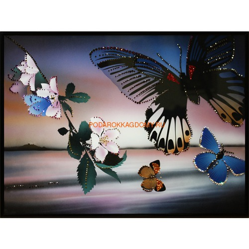"""Картина Сваровски """"Полёт бабочек"""" 02549 фото"""