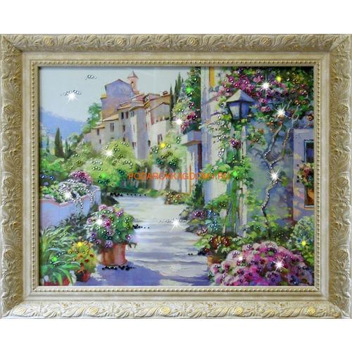 """Картина Сваровски """"Цветущий город"""" 16139 фото"""