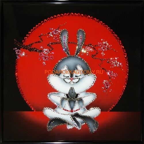 """Восточная картина Сваровски """"Японский кролик"""" 02568 фото"""
