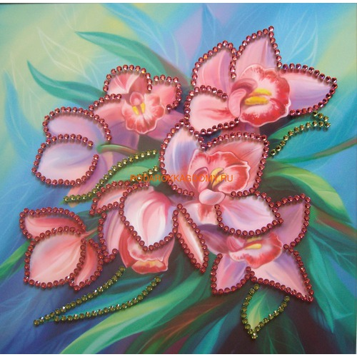 """Картина Сваровски """"Орхидеи"""" 0854 фото"""