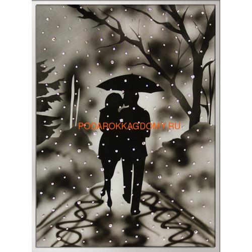 """Картина Сваровски """"Влюблённые под дождём"""" 02658 фото"""