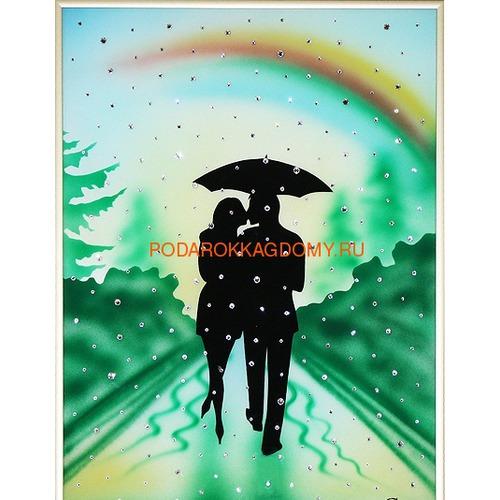 """Картина Сваровски """"Влюблённые под радугой"""" 02736 фото"""
