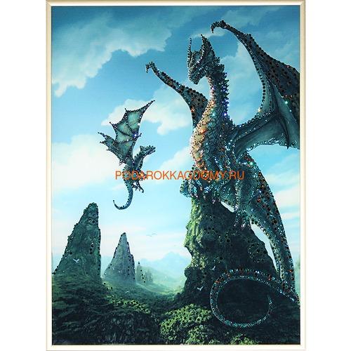"""Картина Сваровски """"Мир драконов"""" 02752 фото"""