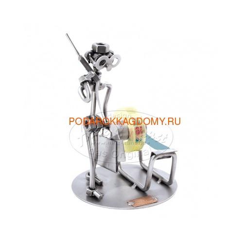 """Подставка для скотча из металла Hinz Kunst """"Бизнесмен"""" 0382 фото"""