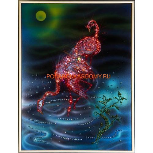"""Картина Сваровски """"Фламинго"""" 02345 фото"""