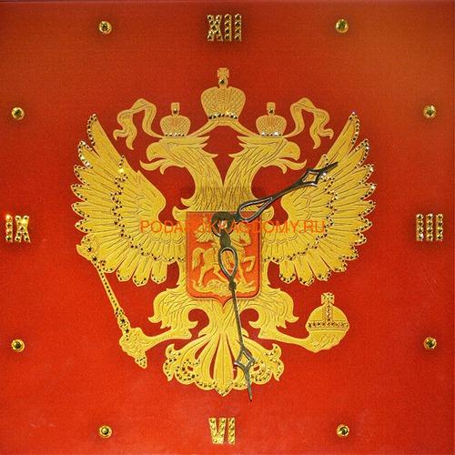 """Настенные часы с кристаллами Сваровски """"Герб"""" 02883 фото"""