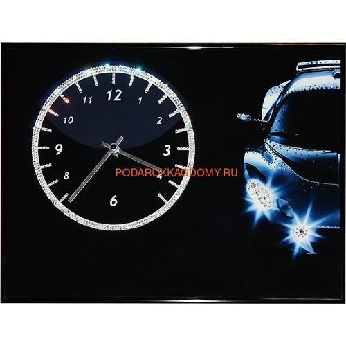 """Настенные часы с кристаллами Сваровски """"Авто"""" 02940 фото"""