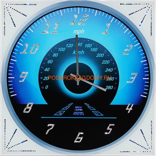 """Настенные часы с кристаллами Сваровски """"Спидометр"""" 02946 фото"""