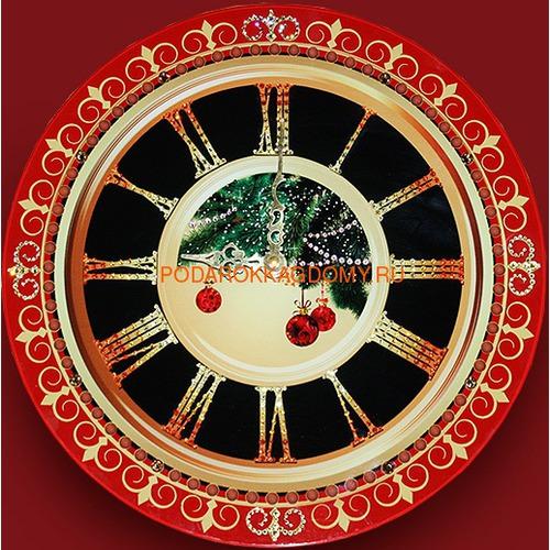 """Настенные часы с кристаллами Сваровски """"Новый год"""" 02969 фото"""