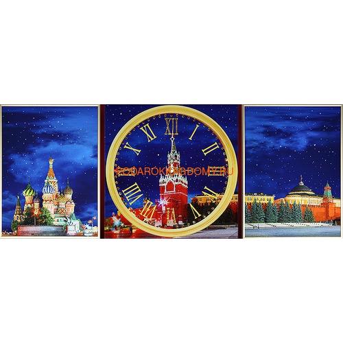 """Настенные часы с кристаллами Сваровски """"Красная площадь"""" 02233 фото"""