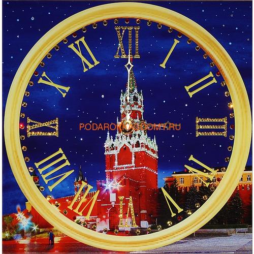 """Настенные часы с кристаллами Сваровски """"Куранты"""" 02232 фото"""