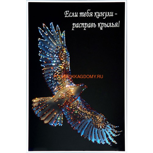 "Картина Сваровски ""Сокол"" 02328 фото"