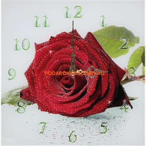 """Настенные часы с кристаллами Сваровски """"Роза"""" 021031 фото"""
