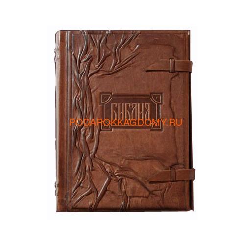 Подарочная Библия в кожаном переплёте 06128 фото