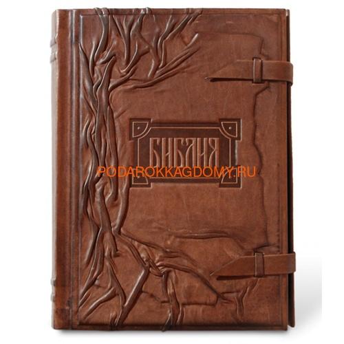 Подарочная Библия в кожаном переплёте 06129 фото