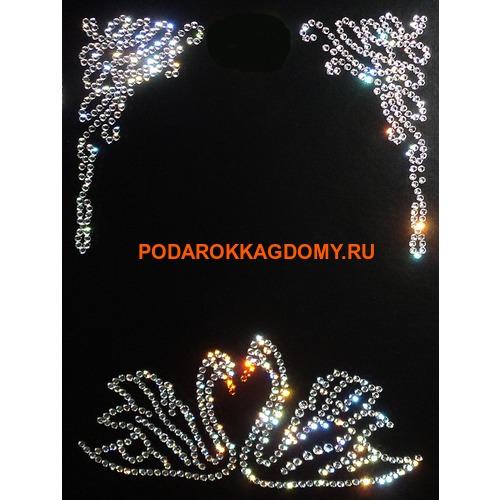 """Фоторамка Сваровски """"Лебеди"""" 77417 фото"""