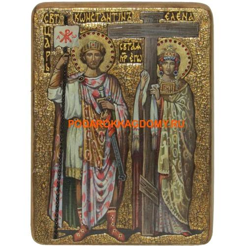 Икона Святые равноапостольные Константин и Елена 07538 фото