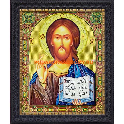 Икона Господь Вседержитель с кристаллами Сваровски 16592 фото