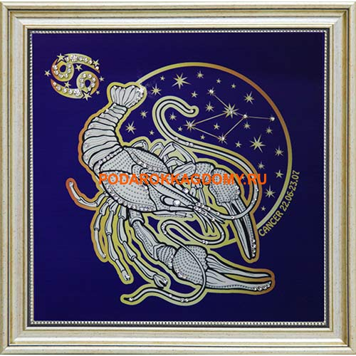 "Картина Сваровски ""Знак зодиака рак"" 16594 фото"