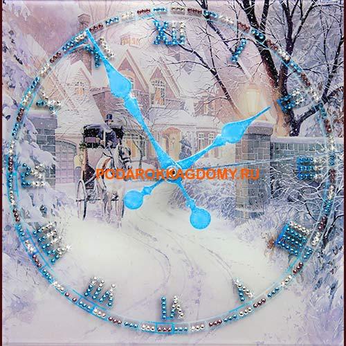 Настенные часы с кристаллами Сваровски 16611 фото
