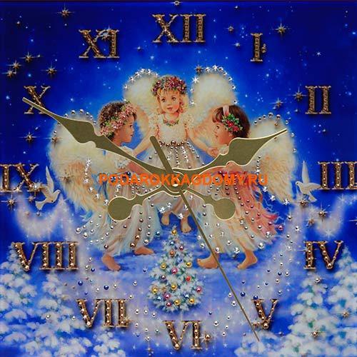 """Настенные часы с кристаллами Сваровски """"Ангелы"""" 16613 фото"""