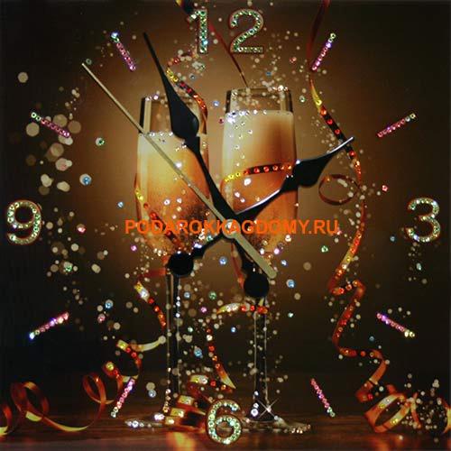 Настенные часы с кристаллами Сваровски 16614 фото