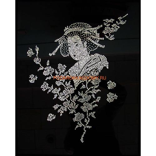 """Восточная картина Сваровски """"Японка"""" 021174 фото"""