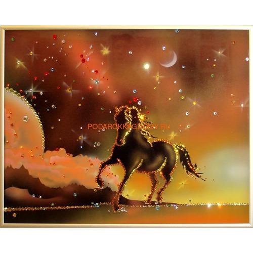 "Картина Сваровски ""Конь на закате"" 02152 фото"