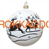 Новогодний ёлочный шар с кристаллами Сваровски 16736 фото