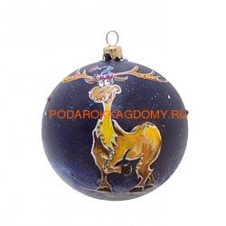 Новогодний ёлочный шар с кристаллами Сваровски