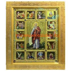 Икона Пророк Илия Фесфитянин с житийными клеймами
