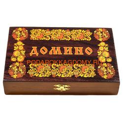 Домино подарочное в деревянной шкатулке