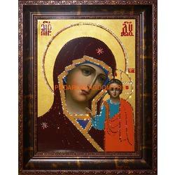 Казанская икона Божьей Матери с кристаллами Сваровски