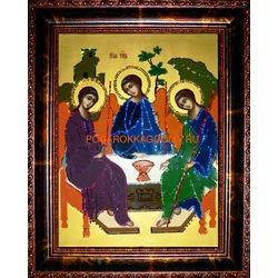 Икона Святая Троица с кристаллами Сваровски