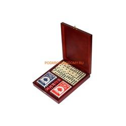 Игровой набор в деревянной шкатулке