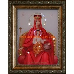 Державная икона Божьей Матери с кристаллами Сваровски
