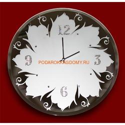 Зеркальные настенные часы с кристаллами Сваровски