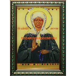 Икона Матрона Московская с кристаллами Сваровски
