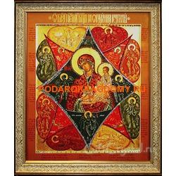 Икона Божьей Матери Неопалимая Купина с кристаллами Сваровски