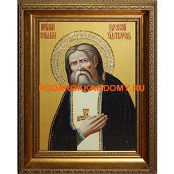 Икона Серафим Саровский с кристаллами Сваровски