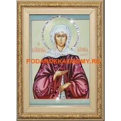 Икона Святая блаженная Ксения Петербургская с кристаллами Сваровски