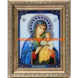Икона Божьей Матери Неувядаемый Цвет с кристаллами Сваровски