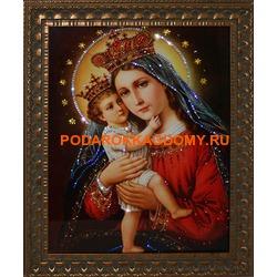 Икона Мадонна с кристаллами Сваровски