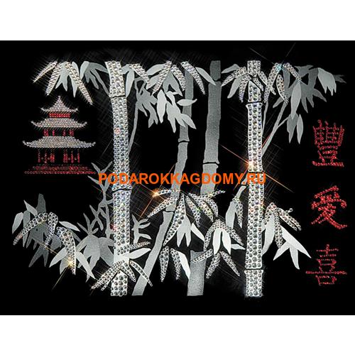 Картина Swarovski иероглиф Пожелание благополучия 0261 фото