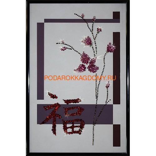 Картина Swarovski восточный символ Пожелание счастья 0262 фото