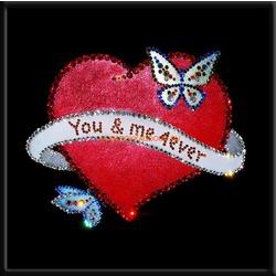 Сердце с бабочками